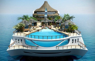 Yacht Tropical Island